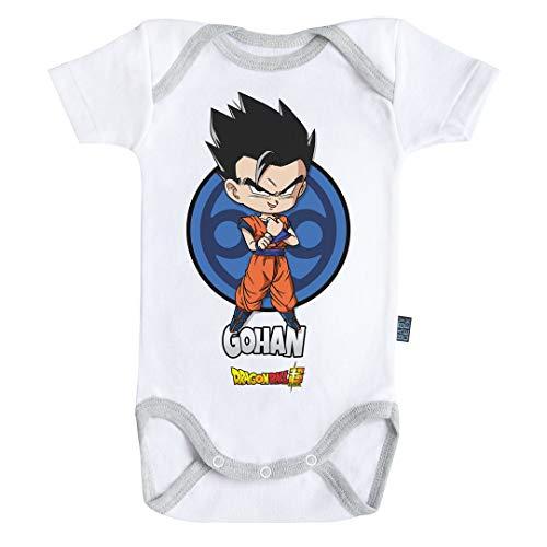 Baby Geek Gohan - Body de manga corta para bebé, diseño de dragón gris 6-12 Meses
