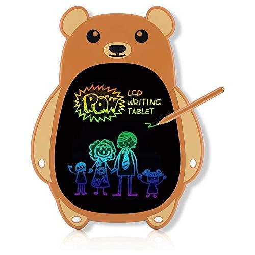 YIBOKANG 8,5-Zoll-LCD-Braunbär-Schreibvorstand, Kinder- Und Kindschreiben Und Malen Elektronischer Malerei-Board, Geeignet Für Farbbild-Spielzeug Für 2 3 4 5 6-jährige Junge Und Mädchen