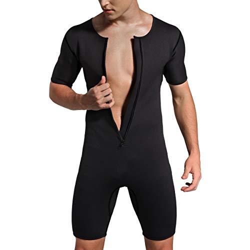 Bakerdani Men's Neoprene Weight Loss Sauna Suit Body Shaper for Fitness Gym Exercise Training
