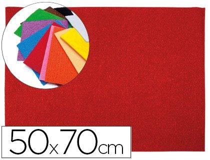 Liderpapel - Goma eva 50x70cm 60g/m2 espesor 2mm textura toalla rojo (10 unidades)
