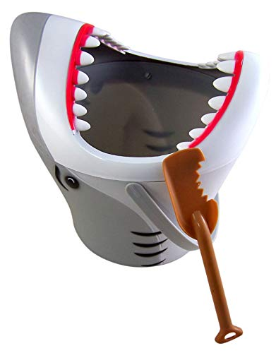 Big Bite Great White Shark Sand Bucket Beach Toy with Shovel 9 Inch