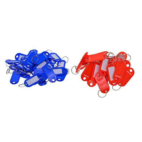 chiwanji 100 Pcs Waterproof Plastic Key Rings Labels Luggage ID Tags Label, 50x65mm