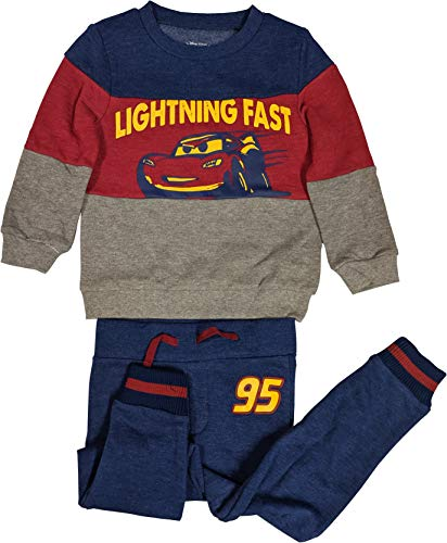 Cars Sweater and Sweat Pants Lightning McQueen 2-Piece Clothing Set (5T)