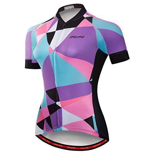 Weimostar - Maillot de ciclismo para mujer con cremallera, camiseta de manga...