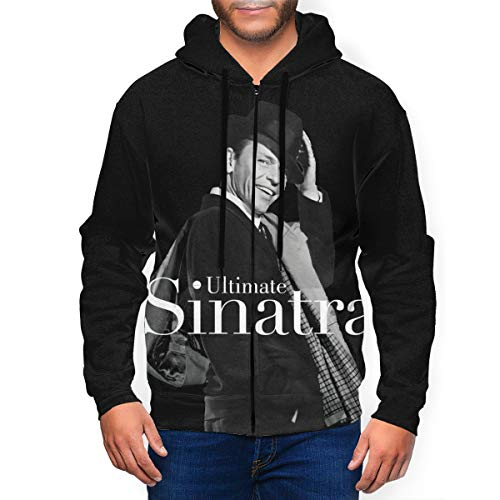 JacobKThompson Frank Sinatra Ultimate Sinatra 3D Print Man's Full Zip Hoodies Sweatshirt M Black
