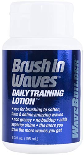 WaveBuilder Brush In Waves Daily Training Lotion | Non Greasy Formula Forms and Defines Hair Waves,...