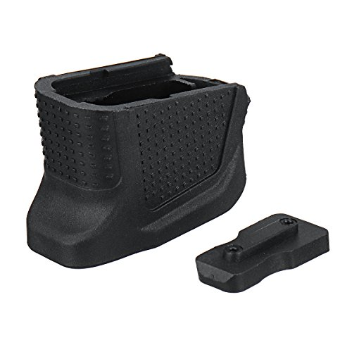 MYAMIA Replacement Enhanced Magazine Extension Base Plate Add With 2 Round For Glock 43 Tools Kit