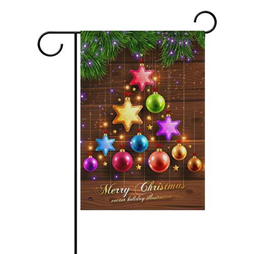 Ahomy Garden Flaggen Weihnachtsdeko Stern, Polyester, Multi, 12x18inch
