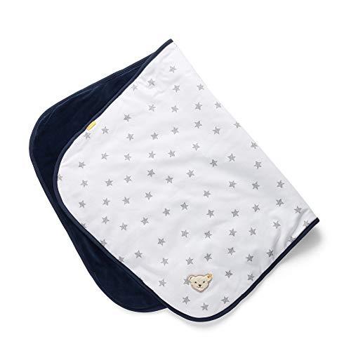 Steiff Baby-Jungen Decke, Weiß (BRIGHT WHITE 1000), Einheitsgröße