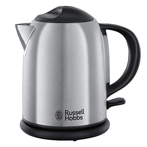 Russell Hobbs 20195-70 Hervidor compacto de acero inoxidable cepillado, 1 L, 2200 W, Gris Adventure