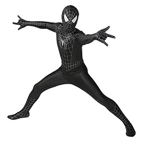 GJZhuan Ps5 Spider Man Disfraces De Cosplay Unisex Niños Niñas Traje Escenario Halloween Película Juego rol Mono Lycra Spandex Zentai Disfraces,Black-Kids/M(125~135cm)