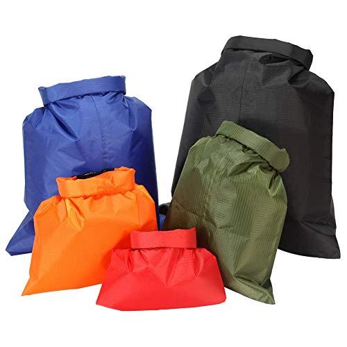 Waterproof Dry Bag Lightweight Drifting Waterproof Portable Dry Sacks Backpack Heavy Duty Roll for Kayaking Rafting Boating Snorkeling Hiking Camping Color 5pcs