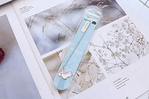 Geschenken UK® Leuke Eenhoorn Hanger Metalen Ketting Bladwijzers voor Boeken Boek Markers Lezers Gift Ontwerp 2