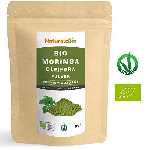 Moringa Oleifera Bio Pulver [ Premium-Qualität ] 1kg | Organic Moringa Powder, Original und Rein |...