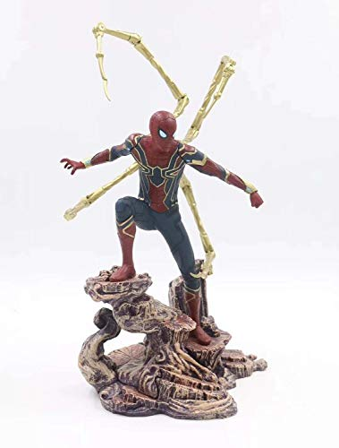 HXLF Vengadores Capitán Marvel 22-27cm Thanos Ironman Spiderman Deadpool Danvers Estatua Figuras de acción de PVC de Iron Studios KO Figuras de Juguete (Color : 3)