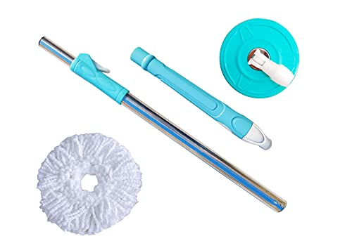 Giftswrap Stainless Steel Magic Spin Mop Floor Cleaner Stick Rod 360 Degree Rotating Spin Mop Handle