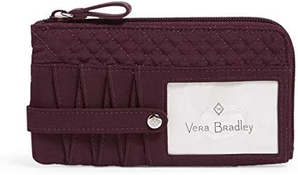 Vera Bradley Women s Microfiber Ultimate Card Case Wallet with RFID Protection Mulled Wine product image