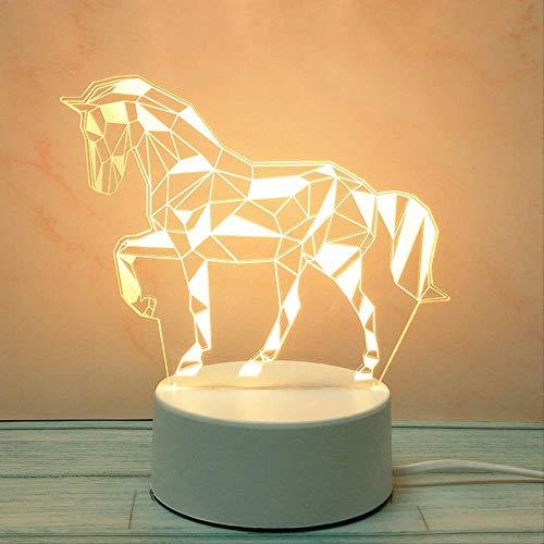 Geschenk Nachtlampje Jubileum Jubileum Viering Verjaardagscadeau Reclame Logo Custom Acryl Tafellamp Wit Paard