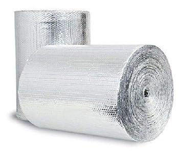 Double Bubble Reflective Thermal Aluminum Foil Radiant Heat Vapor Barrier Insulation   16  X 10 Ft  Heavy Duty  Water Proof No Tear   Walls Windows Garages Attics Air Ducts HVAC Vehicle Etc