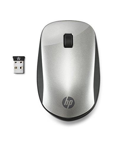 HP Z4000 (2HW66AA) kabellose Maus (bis zu 18 Monate Akkulaufzeit, 1.200 dpi, 3 Tasten, Scrollrad, USB dongle) silber