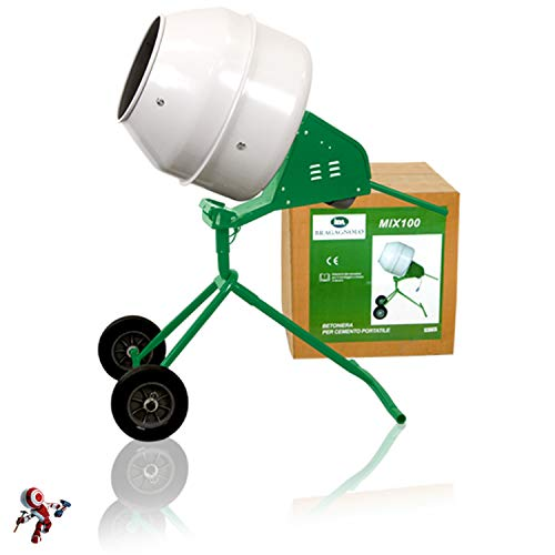 Hormigonera Bragagnolo 100 litros Mix100 - Hormigonera eléctrica de cemento - Hormigonera eléctrica desmontable