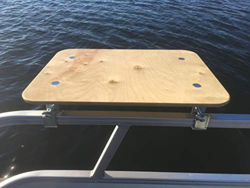 Arnalls Pontoon Boat Table - Boat & Marine Grill Accessory – Perfect for Pontoon Boats - Bracket Set Table - Pontoon Accessory - Multi-Use Table – Essential Boating Accessory - Portable - Utility Bar