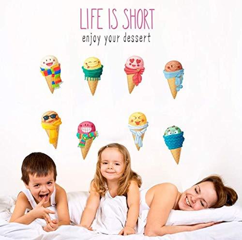 PVC DIY Für Aufkleber bunte sommer Eis wandaufkleber aufkleber kinderzimmer küche kinder schlafzimmer lebensmittel shop dekor geschenke wandbild