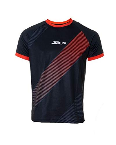 Siux Camiseta Luxury Negro Rojo