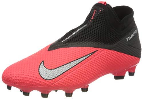 Nike Herren Phantom VSN 2 Academy DF FG/MG Fußballschuhe, Rot (Laser Crimson/Metallic Silver-606), 41 EU