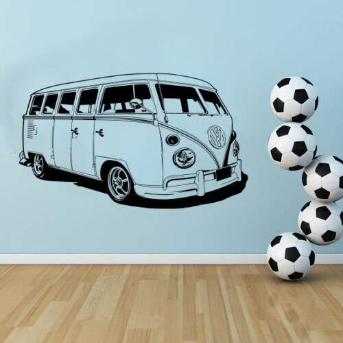 zzlfn3lv Large Car VW Sticker Volkswagon Camper Van Retro Hippy Classic Wall Art Removable Cut Vinyl Decal Stencil Mural Home Room 57 * 96cm
