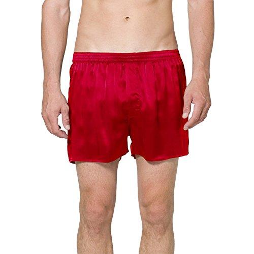 INTIMO Herren Red Silk Boxer Short Boxershorts, rot, X-Large