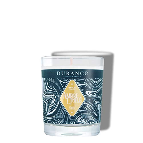 DURANCE - Vela perfumada con aroma de ámbar y estrella.