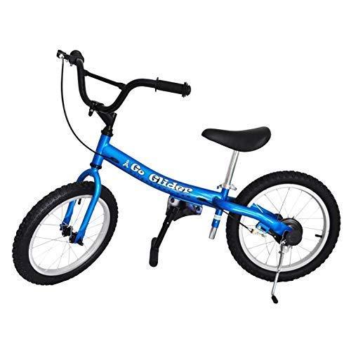 Glide Bikes Kid s Go Glider Balance Bike, Blue, 16-Inch