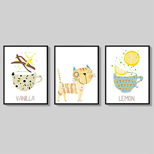 Les peintures modernes décorent, peintures murales de sofa, peinture murale, variété de peinture de décoration de combinaison (Couleur : B, taille : 45*58cm)