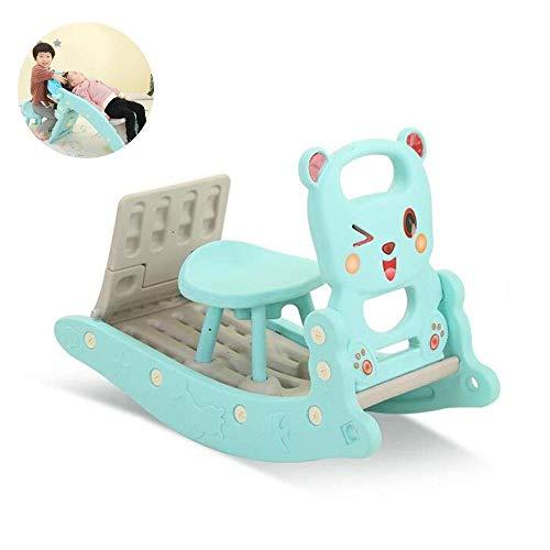 YANGSANJIN Kinderschommelpaard glijbaan en Shampoo Bed Combinatie Kids Indoor Outdoor Slide Tuin Speelplaats, Geschikt voor 1-6 Jaar Oude Baby (Kleur : Roze)