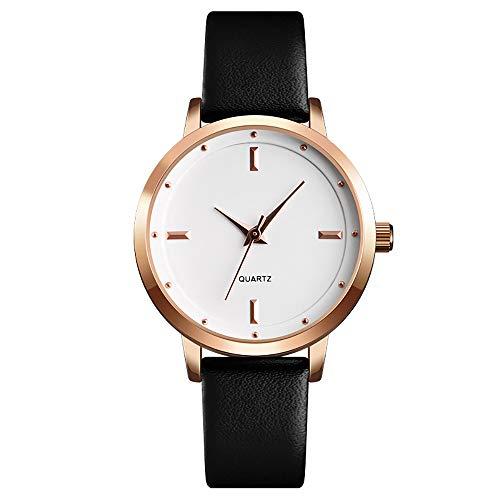 BAIYI Relojes De Mujer Reloj De Cuarzo A La Moda De Cuero Reloj Casual De Honda Delgada para Mujer,E
