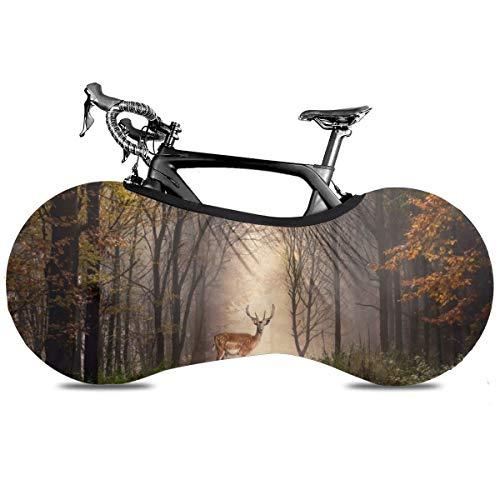 Jasmine Cubierta de Bicicleta Portátil Interior Anti Polvo Alta Elástica Cubierta de Bicicleta Cubierta Protectora Rip Stop Neumático Carretera MTB Bolsa de Almacenamiento, CERDO FOREST, talla única
