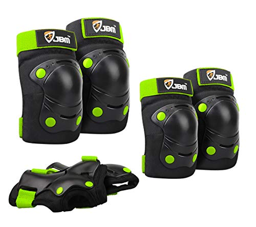 JBM Elbow Knee Pads Kids Wrist Guard Pads for Skateboarding Child Protective Gear Set for Cycling, Skating, Scooter Roller, Bike and Skateboard