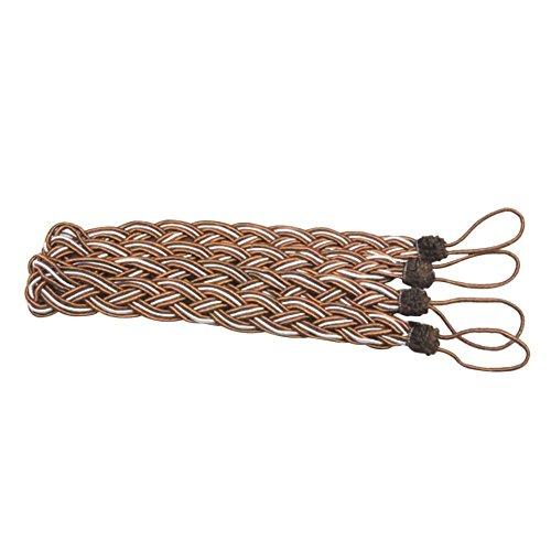 bodhi2000abrazaderas cortina de punto trenzado cuerda de cable retención hebilla, marrón