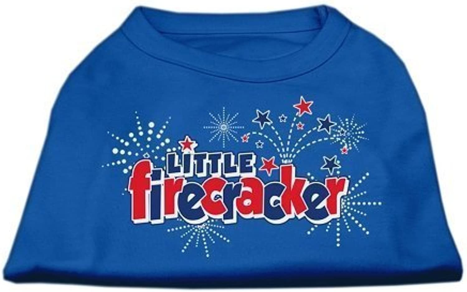 Mirage Pet Products 8Inch Little Firecracker Screen Print Shirts for Pets, XSmall, bluee by Mirage Pet Products