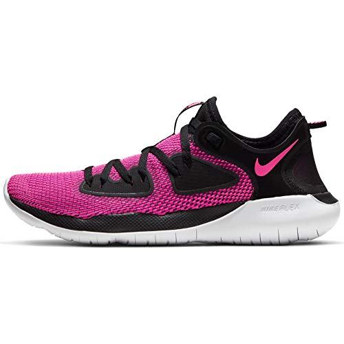 Nike Womens Flex 2019 RN Running Sneakers Black/Laser Fuchsia-White AQ7487-004 (8 B US)