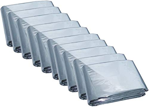 winkong サバイバルシート 15枚セット 防寒 防災 保温 210×160cm 軽量 コンパクト シルバー アルミシート