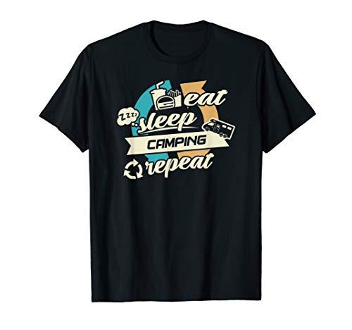 Eat, sleep, Camping, Repeat - Caravan Wohnmobil Camper T-Shirt