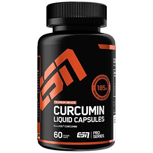 ESN Curcumin Liquid Capsules – 60 Kapseln – Premium NovaSol®-Mizellform – 185-fach höhere Bioverfügbarkeit als natives Curcumin – vegan – Made in Germany