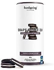 foodspring Shape Shake 2.0, Cookies & Cream, 900g, Substitut de repas riche en protéines et savoureux pour contrôle de poids