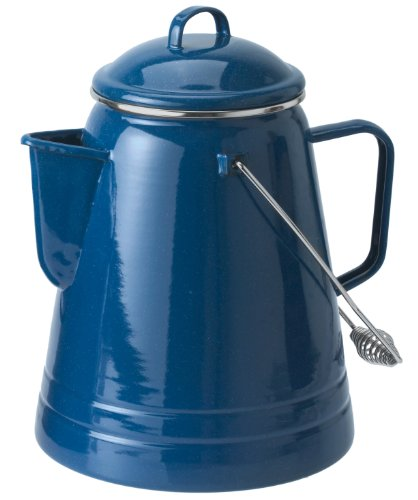 GSI Outdoors 36 Cup Coffee Boiler Design to be Sturdy for The Campsite, RV or Farmhouse Kitchen, Blue