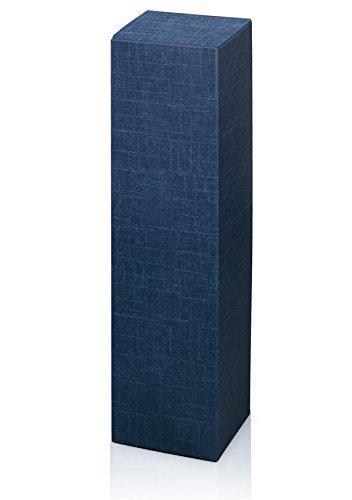 10 Stück Weinkarton, Weinverpackung, Flaschenkarton - Fineline blau Faltschachtel für eine Flasche Wein/Sekt (blau)