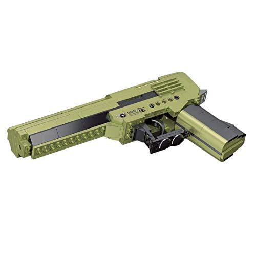 Blasters de asalto cicatriz modelo 385St. Bloque de construcción militar disparo Blasters simulación de ladrillos de armas mecánicos Modelo compatible con la tecnología Lego, Wüstenadlerpistole