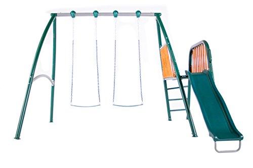 Sportspower Alta Oaks Metal with Wood Deck Swing Set