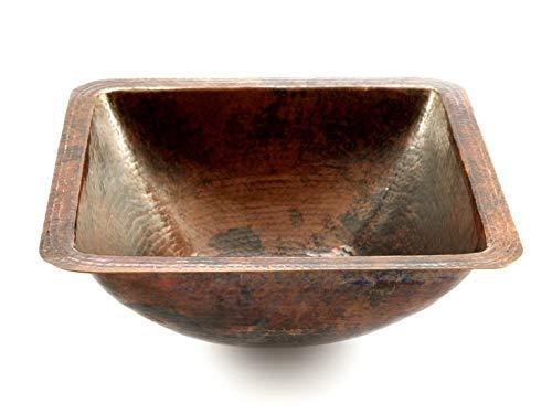 """Cerames Modesta - Waschbecken aus reinem Kupfer 35 cm (14\""""), handgehämmert, Einbauwaschbecken, Handgeschmiedetes Kupfer aus Mexiko"""